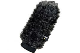 RODE Deluxe Windshield comprised of open cell foam and fur sleeve. Suits NTG-1, NTG-2, VideoMic and