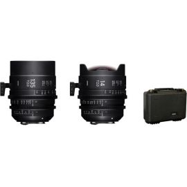 Sigma 14 & 135mm T2 FF High-Speed Cine Prime Lenses Set with Case (PL Mount)