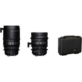 Sigma 18-35mm and 50-100mm Cine Lenses with Case (Sony E)