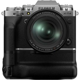 Fujifilm X-T4 Mirrorless Digital Camera with XF16-80mm, Silver With X-T4 Vertical Battery Grip