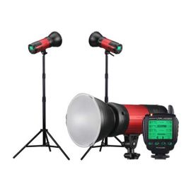 Promaster Unplugged TTL400 3-Light Bundle With Nikon Transmitter