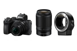 Nikon Z 50 DX-format 2 lens kit + FTZ adapter