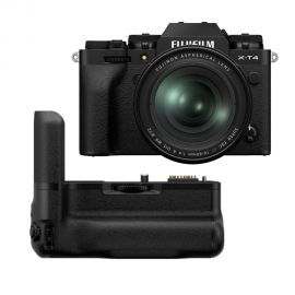 Fujifilm X-T4 Mirrorless Digital Camera with XF16-80mm, Black With Vertical Battery Grip