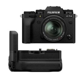 Fujifilm X-T4 Mirrorless Digital Camera with XF 18-55mm With Vertical Battery Grip, Black