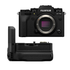 Fujifilm X-T4 Mirrorless Digital Camera with Vertical Battery Grip, Black