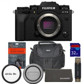 FUJIFILM X-T4 Mirrorless Digital Camera (Body Only, Black)  with Accessories Kit