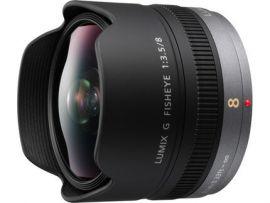 Panasonic Lumix G Fisheye Lens, 8mm, F3.5, Micro Four Thirds - H-F008