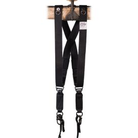 HoldFast Gear MoneyMaker Two-Camera Swagg Harness (Black, Cotton Canvas)