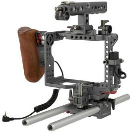 Tilta Handheld Camera Cage Rig with Wooden Handgrip For Panasonic GH5