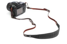 ONA The Lima Waxed Canvas and Leather Camera Strap - Black