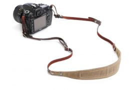 ONA The Lima Waxed Canvas and Leather Camera Strap - Field Tan
