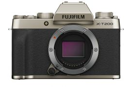 FUJIFILM X-T200 Mirrorless Digital Camera (Body Only, Gold)