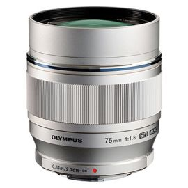 Olympus M.Zuiko 75mm f1.8 Lens - Silver