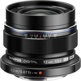 Olympus M.Zuiko 12mm f2.0 Lens - Black