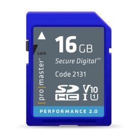ProMaster SDHC 16GB Performance 2.0 Memory Card