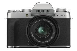 FUJIFILM X-T200 Mirrorless Digital Camera with XC15-45mm lens Kit ,Silver