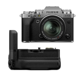 Fujifilm X-T4 Mirrorless Digital Camera with XF 18-55mm with Vertical Battery Grip, Silver
