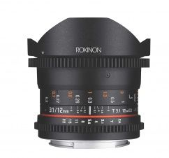 Rokinon 12mm T3.1 Full Frame Cine DS Fisheye Lens for Canon EF